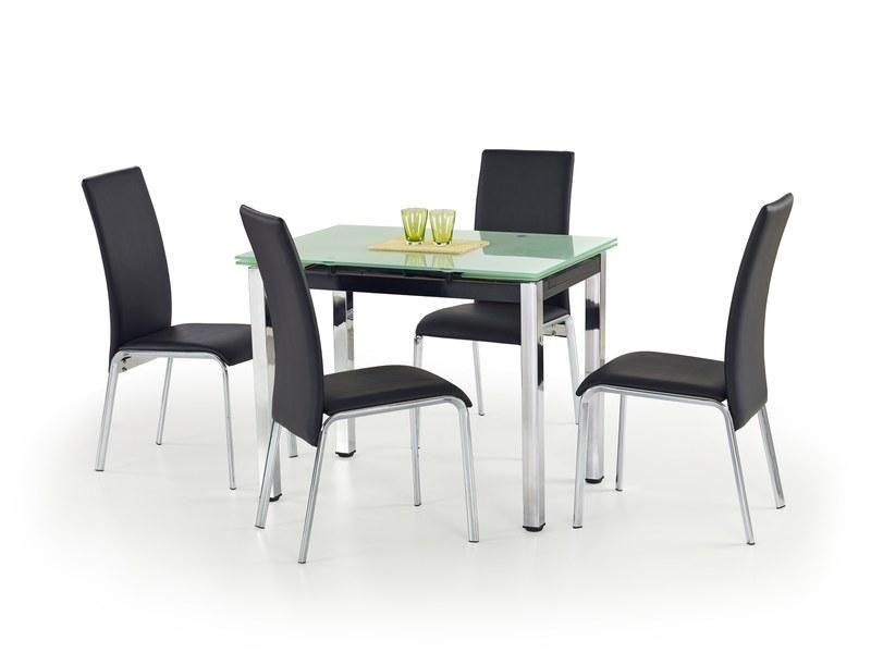 Halmar Skleněný jídelní rozkládací stůl Logan barva Mléčná