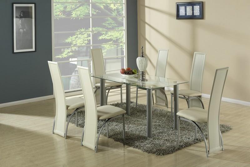Halmar Skleněný jídelní stůl Talon barva béžová