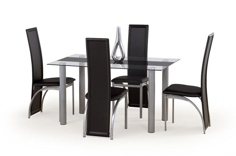 Halmar Skleněný jídelní stůl Talon barva černá