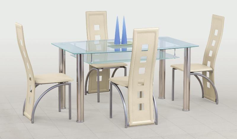 Skleněný stůl Cristal barva čirá