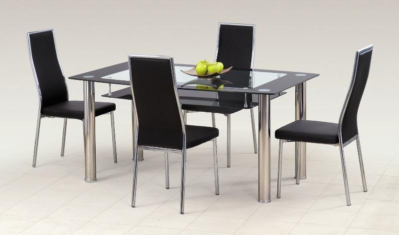 Skleněný stůl Cristal barva černá